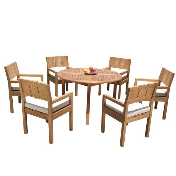 Gabilan 7 Piece Teak Dining Set by Rosecliff Heights