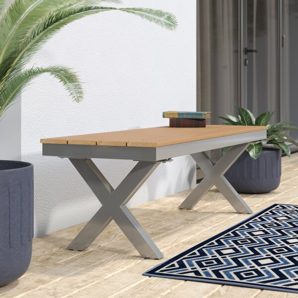 Cade Outdoor Aluminum and Poly Wood Garden Bench by Ivy Bronx