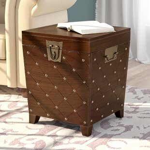 Bargain Hassania Nailhead Trunk End Table By World Menagerie