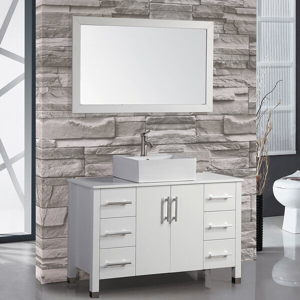 Laroche 48 Single Sink Bathroom Vanity Set with Mirror by Latitude Run