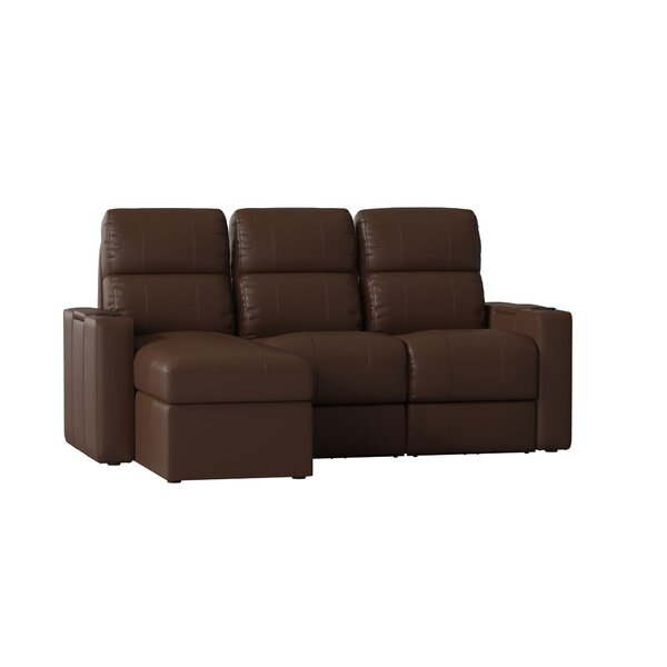 Leather Home Theater Sofa Row Of 3 Set By Red