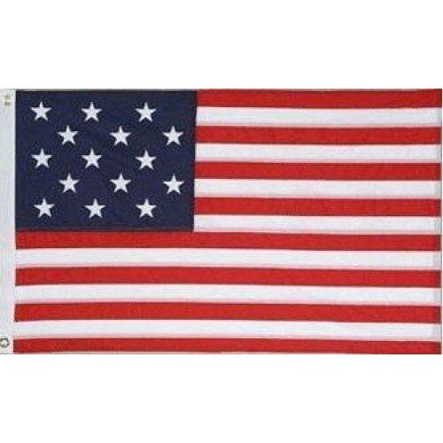 US 15 Star Historical Traditional Flag by NeoPlex