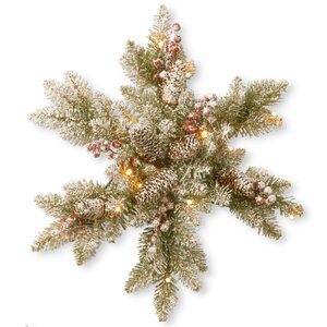 Green/White Fir Snowflake