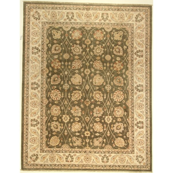 One-of-a-Kind Cora Hand-Knotted Wool Green Area Rug by Isabelline