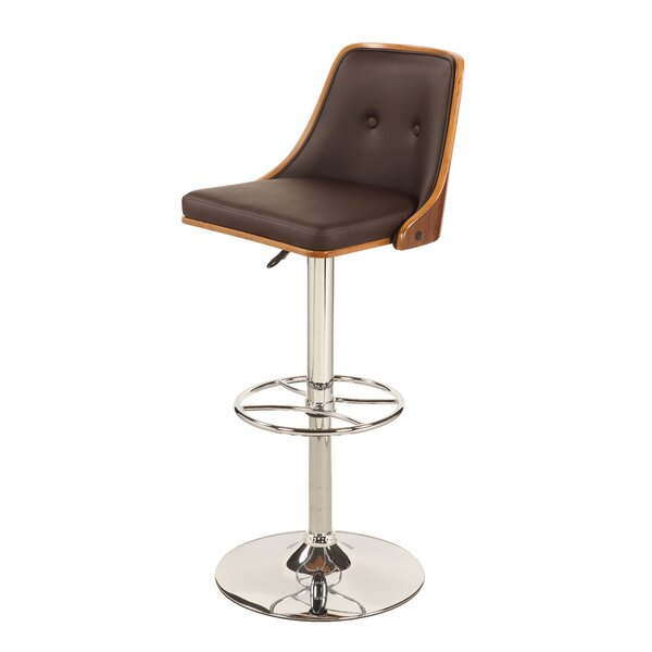 Mclellan Adjustable Height Swivel Bar Stool by George Oliver George Oliver