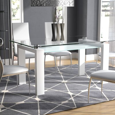 Glass Rectangular Kitchen Amp Dining Tables You Ll Love