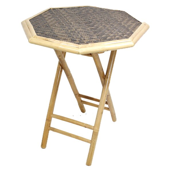 Escolta Octagonal Folding Bamboo End Table by Bay Isle Home