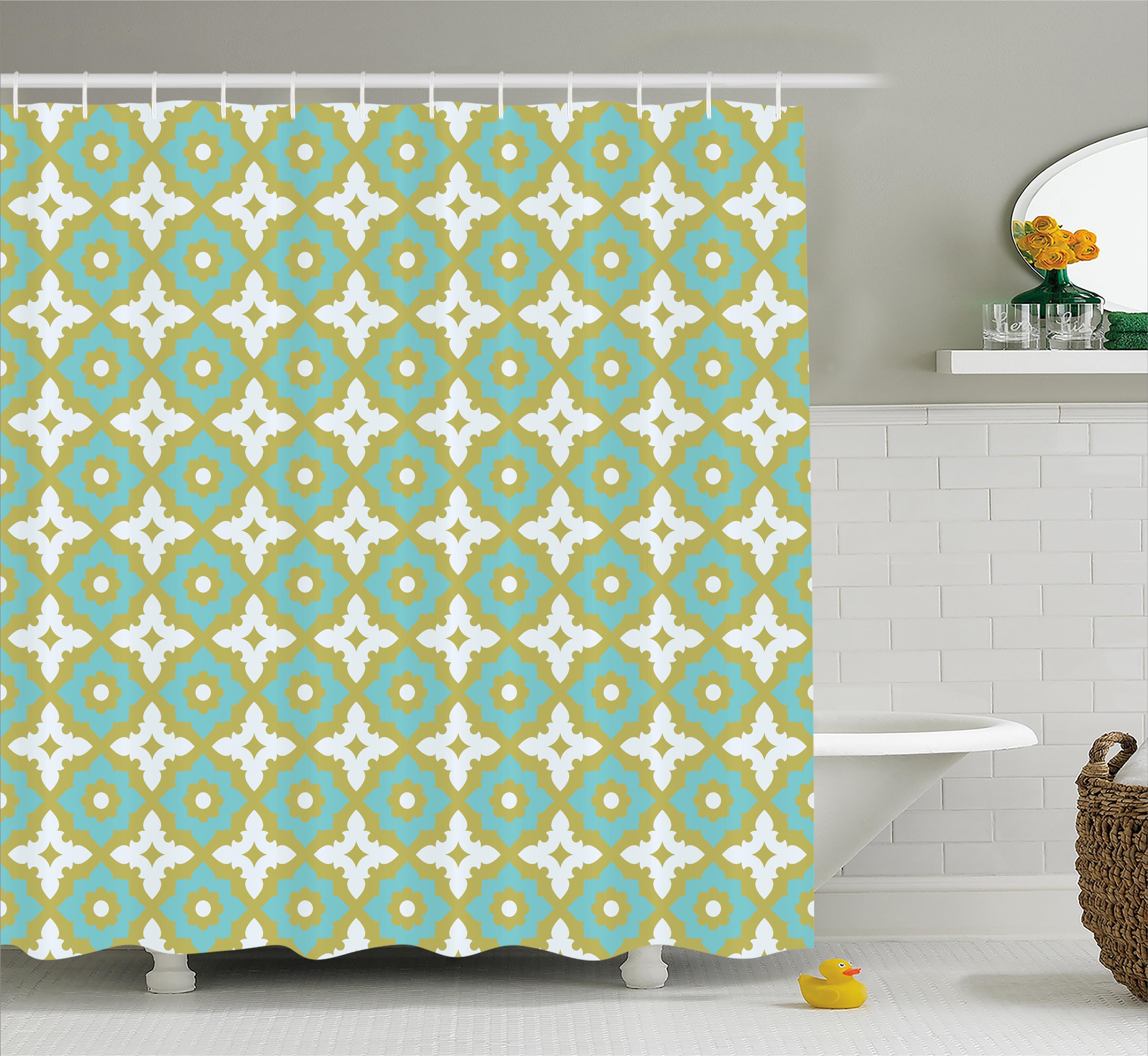 Daveney Floral Tones Ornate Shower Curtain Hooks