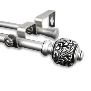 Lamarre Double Curtain Rod and Hardware Set