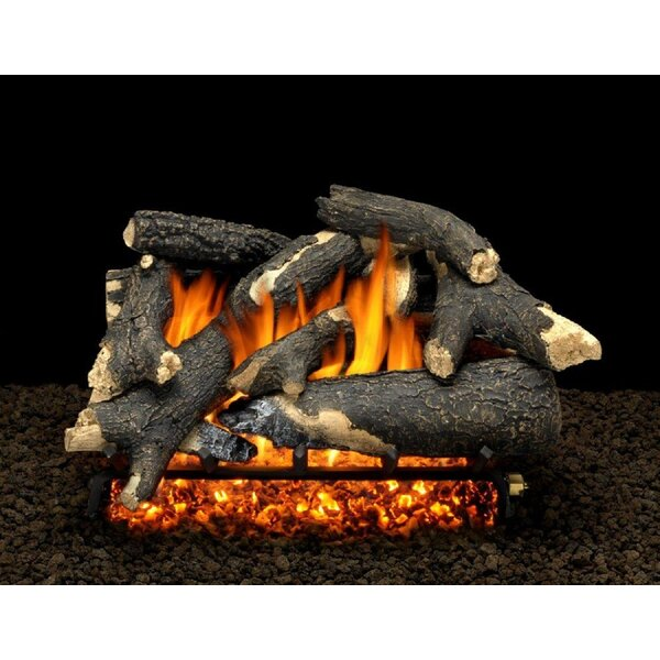 Granada Split Vented Natural Gas/Propane Fireplace  Log Set By American Gas Log