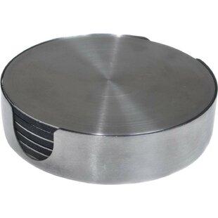 7 Piece Stainless Steel Round Coaster Set ByThirstystone