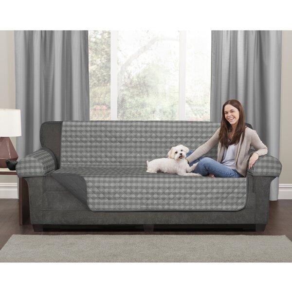 3 Piece Buffalo Check Box Cushion Loveseat Slipcover Set by Maytex