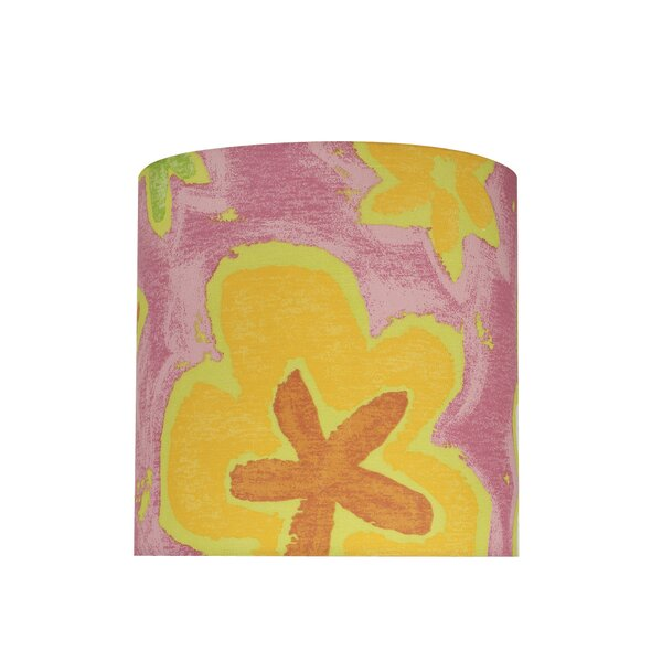 Transitional 8 Fabric Drum Flowers Lamp Shade by Harriet Bee
