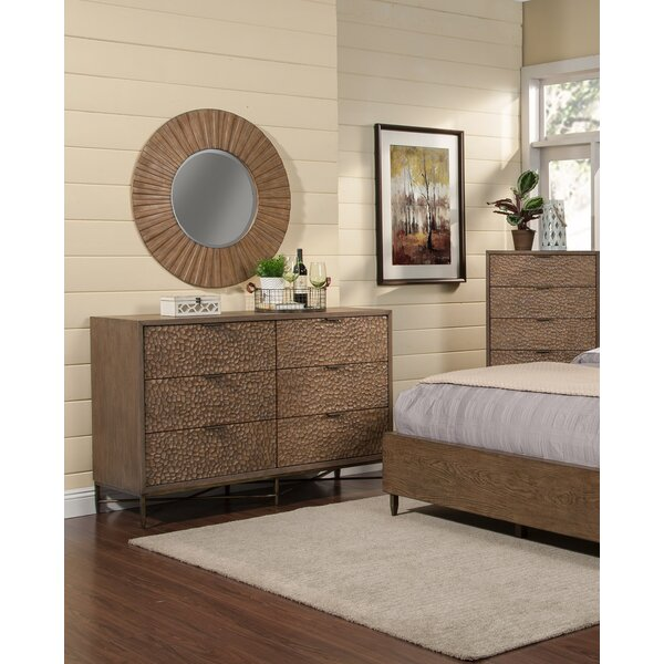 Jakey 6 Drawer Double Dresser With Mirror By Union Rustic