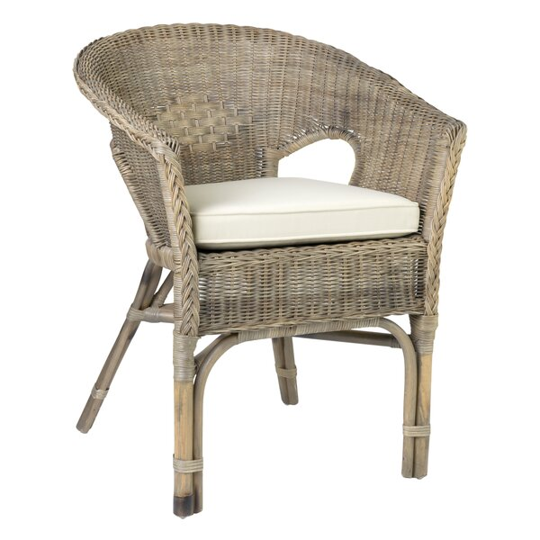 Vitiello Patio Dining Chair with Cushion by Highland Dunes Highland Dunes