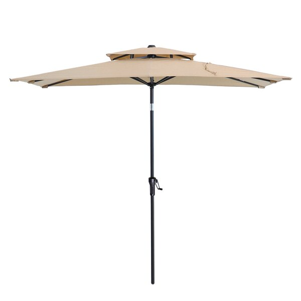 Fraser 6.5' x 10' Rectangular Market Umbrella (Set of 2) by Rosecliff Heights Rosecliff Heights