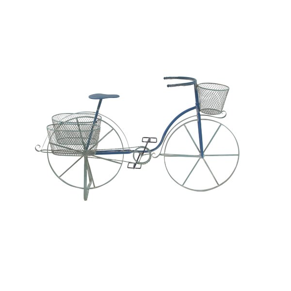 Vicknair Bicycle Metal Pot Planter by Ophelia & Co.