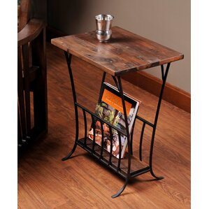 Depot Magazine End Table by William Sheppee