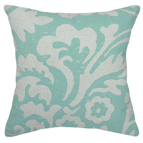 Alameda Jacobean Linen Throw Pillow by Rosecliff Heights