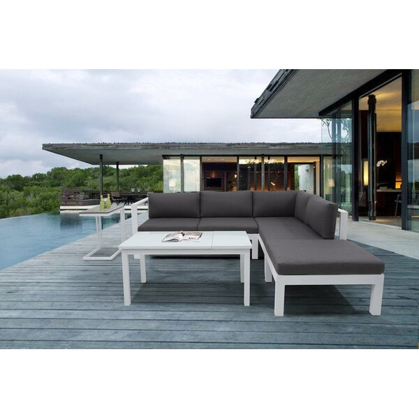 Psyche 5 Piece Sectional Set with Cushions by Orren Ellis