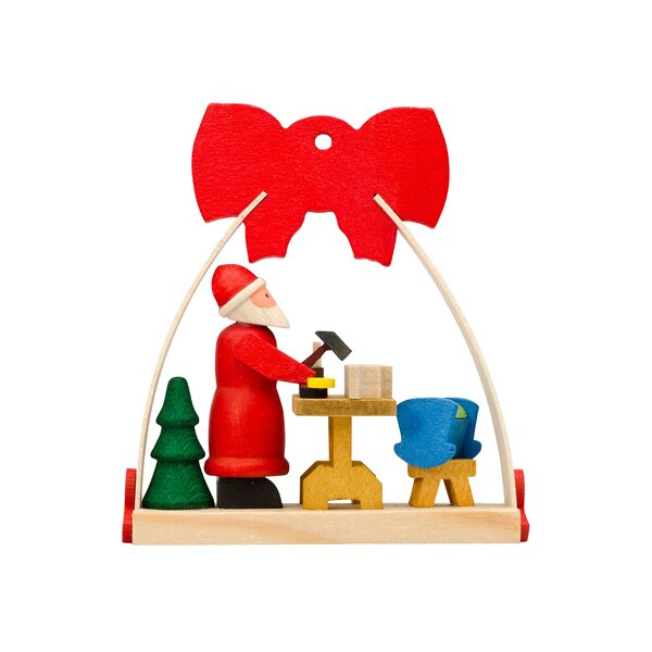 Graupner Arch Santa Workshop Hanging Figurine (Set of 6) by The Holiday Aisle
