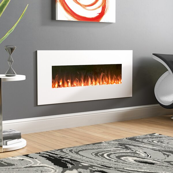 Lockport Pearl Wall Mounted Electric Fireplace by