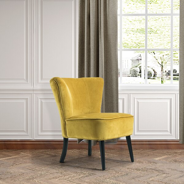 Baret Velvet Armless Wingback Chair by Wrought Studio