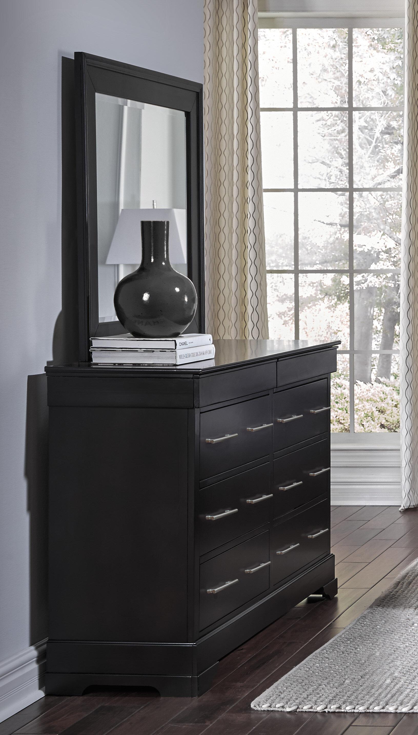 Alcott Hill Mcmahon 6 Drawer Dresser With Mirror | Wayfair