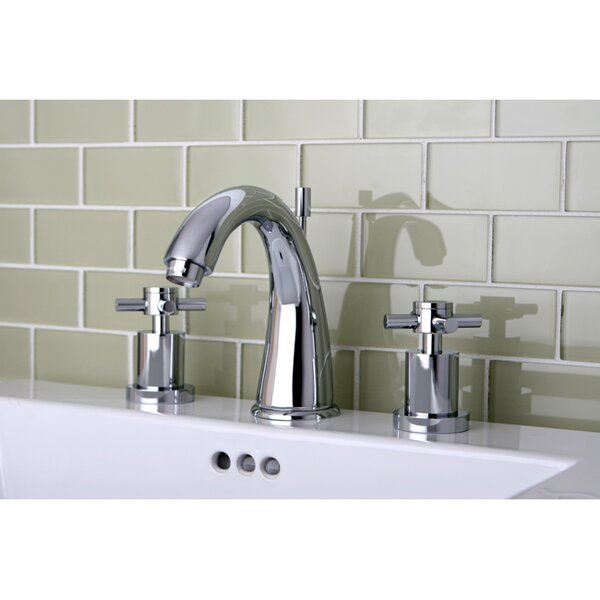 Concord Widespread Bathroom Faucet with Brass Pop-Up Drain by Kingston Brass