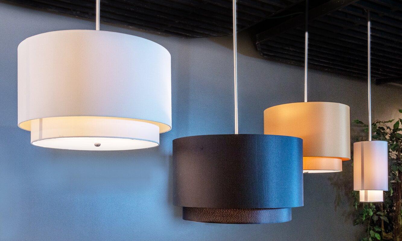 Mercury Row Acamar 3-Light LED Drum Pendant & Reviews | Wayfair