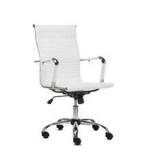 Modern White Leather Office Chair modern office chairs | allmodern