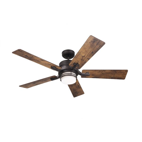 54 Issac 5 Blade LED Ceiling Fan with Remote by Millwood Pines