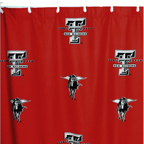 NCAA Texas Tech Cotton Shower Curtain by College Covers