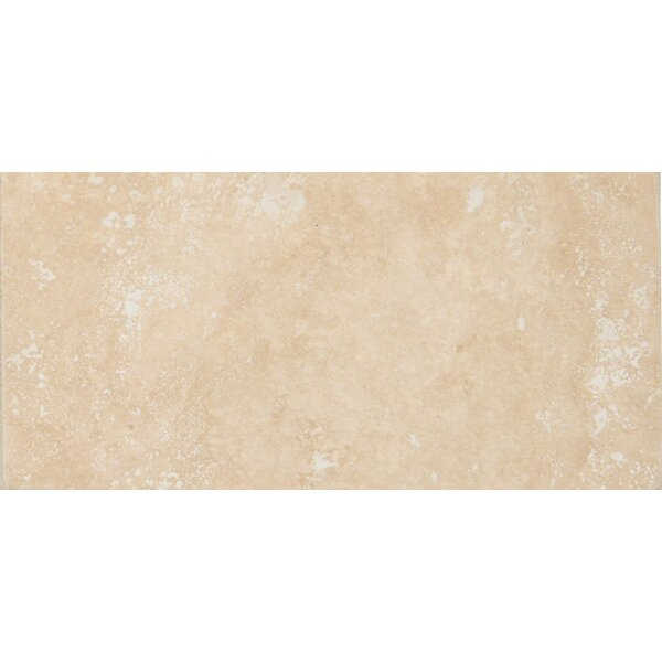Tuscany Ivory 3 x 6 Travertine Subway Tile in  Honed, Filled and Beveled Beige by MSI