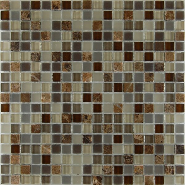 Mix Castano 0.63 x 0.63 Natural Stone Mosaic Tile in Chocolate by Travis Tile Sales