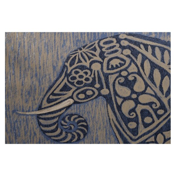 Essehoul Print Blue Indoor/Outdoor Area Rug by Bungalow Rose