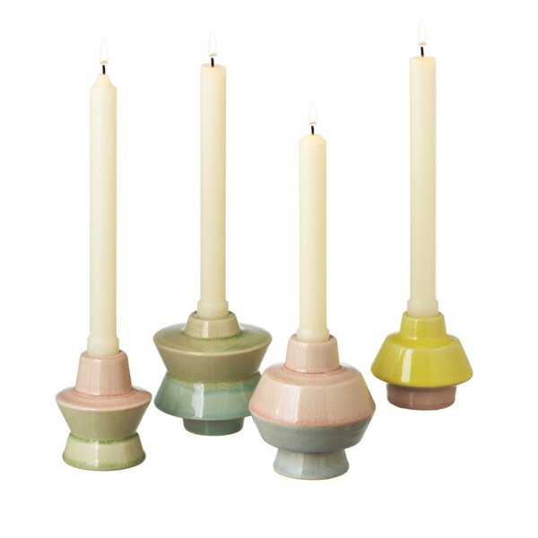 Ceramic Candlestick Set (Set of 4) by Langley Street