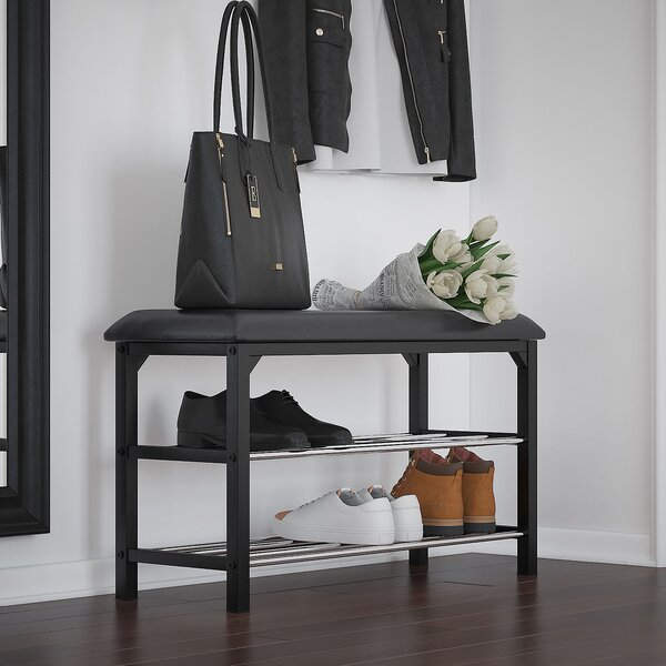 Dovefield Faux Leather Shoe Storage Bench