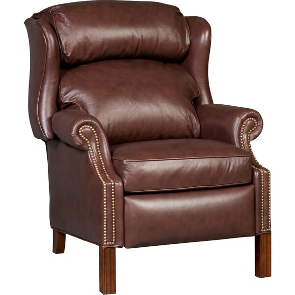 Chippendale Leather Power Recliner by Bradington-Young
