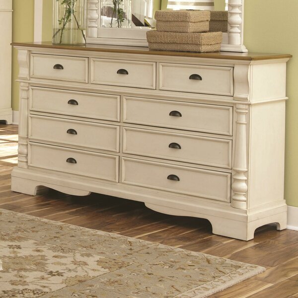 Watkins 9 Drawer Double Dresser by Bayou Breeze