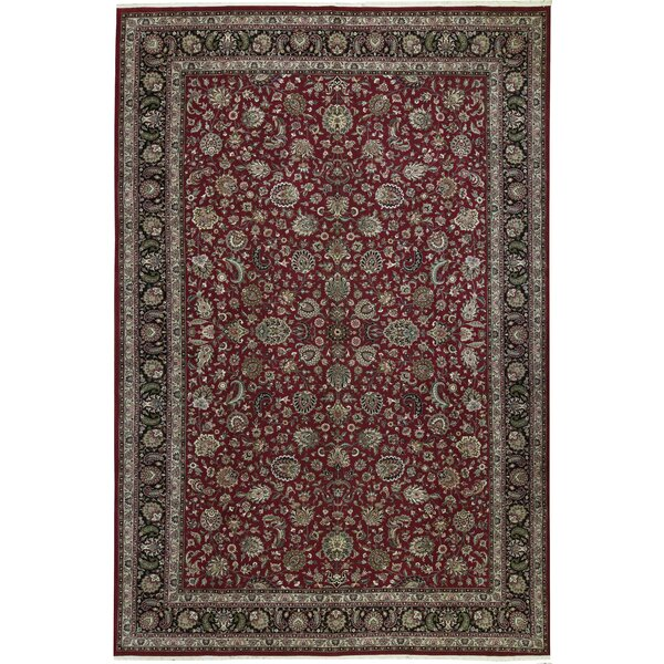 One-of-a-Kind Jahan Hand-Knotted Red 12' x 18' Wool Area Rug