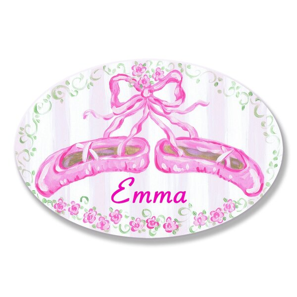 Kids Room Personalization Ballet Slippers Wall Plaque by Stupell Industries