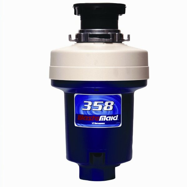 Heavy Duty 1/2 HP Continuous Feed Garbage Disposal by Waste Maid