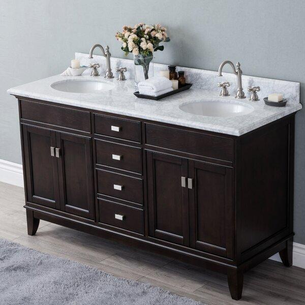 Hyslop 60 Double Bathroom Vanity Set by Latitude Run