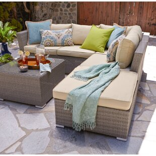 Galdamez 5 Piece Sectional Seating Group with Cushions ByIvy Bronx