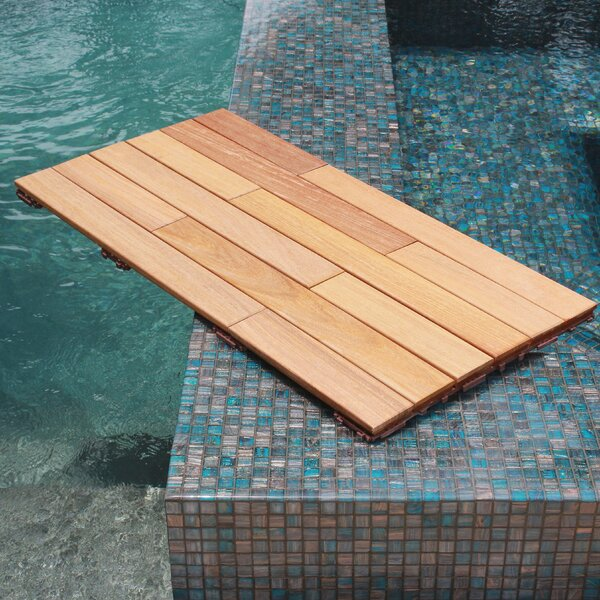 36 x 18 Wood Interlocking Deck Plank in Natural by