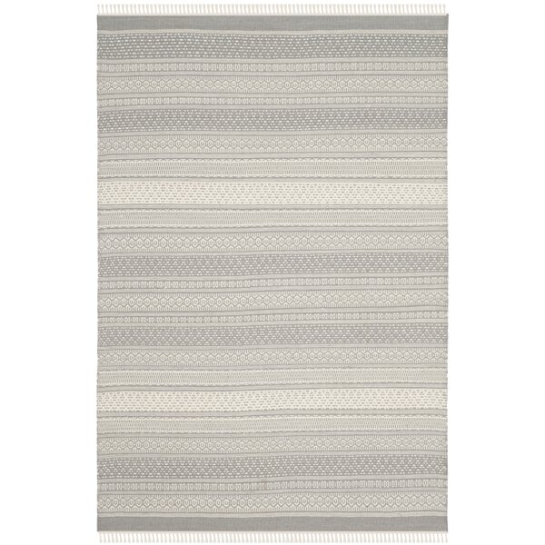 Amerina Hand-Knotted Gray Area Rug by Latitude Run