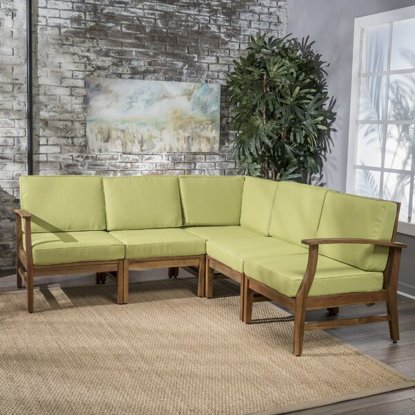 Antonia 5 Piece Sectional Seating Group with Cushions by Mistana