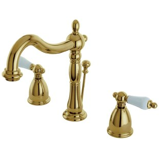 Inexpensive Heritage Widespread Bathroom Faucet with Drain Assembly By Kingston Brass