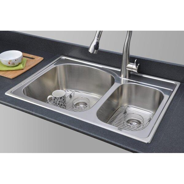 Chicago Series 33 L x 22 W 70/30 Topmount Kitchen Sink
